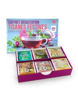 Coffret Dégustation Tisanes festives Bio - Assortiment 6X6 sachets - Aromandise