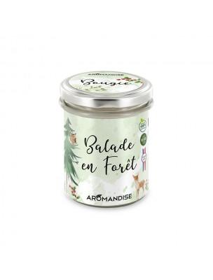 Bougie Balade en Forêt - Senteurs Boisées 150 g - Aromandise