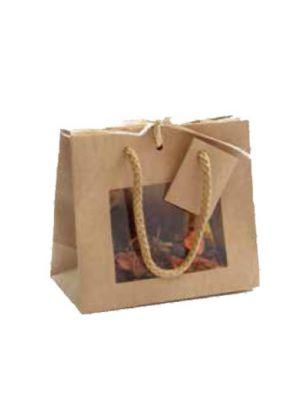 Sac Vitrine Kraft - Petit modèle - Emballages Cadeaux