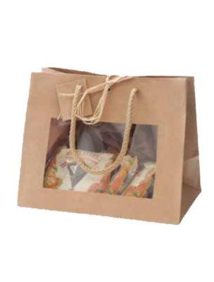 Sac Vitrine Kraft - Grand modèle - Emballages Cadeaux