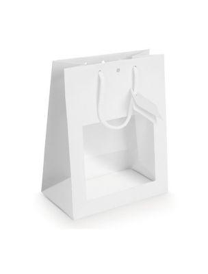 Sac Vitrine Blanc - Grand modèle - Emballages Cadeaux