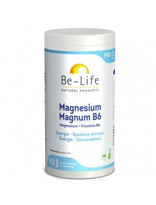 Magnésium Magnum B6 - Energie et Anti-fatigue 90 gélules - Be-Life