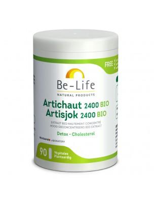Artichaut 2400 Bio - Détox et Cholestérol 90 gélules - Be-Life