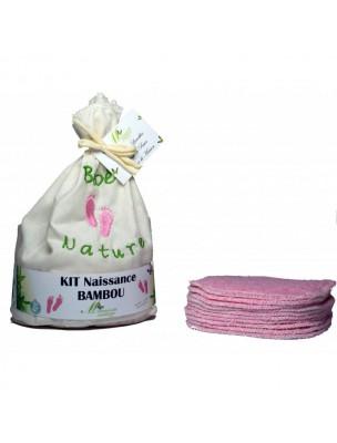 Lingettes Naissance Filles - Eponges de Bambou Kit de 10 lingettes lavables -...