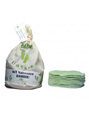 Lingettes Naissance Garçon - Eponges de Bambou Kit de 10 lingettes lavables -...