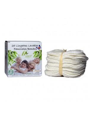 Lingettes Familiales - Eponges de Bambou 25 lingettes lavables - Mademoiselle...