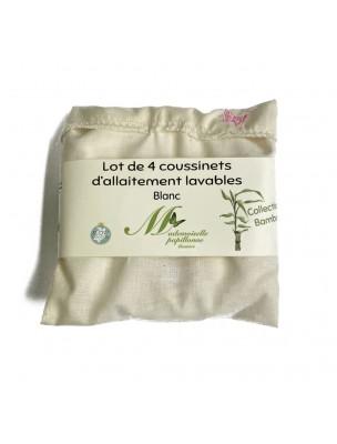 Coussinets d'Allaitement - Eponges de Bambou 4 Coussinets lavables -...