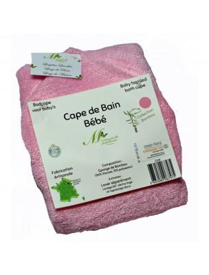 Image de Cape de Bain Bébé Rose - Eponge de Bambou - Mademoiselle Papillonne via Acheter Doux Liniment Bio - Toilette et Change 200 ml -