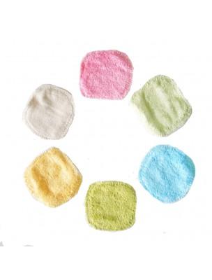 Mini Lingettes - Coton Bio et Bambou 6 lingettes lavables multicolores -...