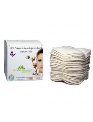 Carrés Démaquillants - Coton Bio 25 Carrés - Mademoiselle Papillonne