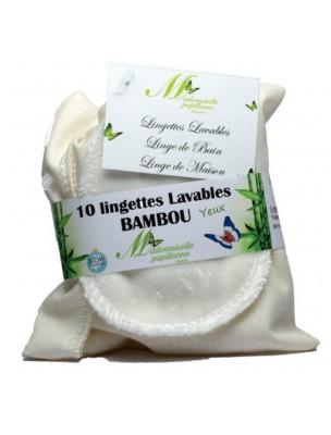 Lingettes Yeux - Eponge de Bambou 10 lingettes lavables - Mademoiselle...
