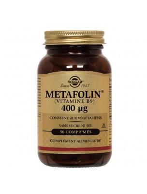 Métafolin (Vitamine B9) 400 µg - Formation des globules rouges 50 comprimés -...