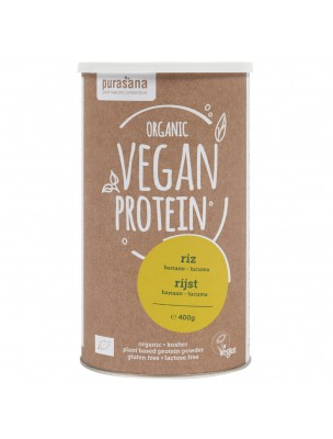 Vegan Protein Bio - Protéines Végétales Riz Banane Lucuma 400 g - Purasana