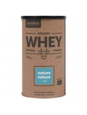 Whey Protein Bio - Protéines de Petit Lait Naturel 400 g - Purasana