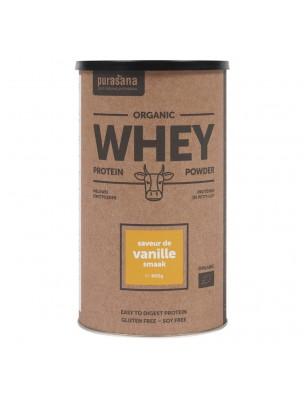 Whey Protein Bio - Protéines de Petit Lait Vanille 400 g - Purasana