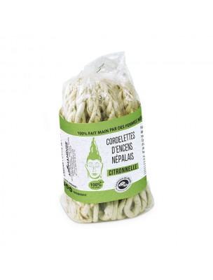 Cordelettes Népalaises - Encens Citronnelle 40 cordelettes - Les Encens du Monde