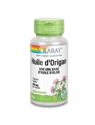 Huile d'Origan 150 mg - Défenses naturelles 60 capsules végétales - Solaray