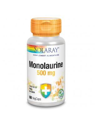 Monolaurine 500 mg - Défenses naturelles 60 capsules végétales - Solaray