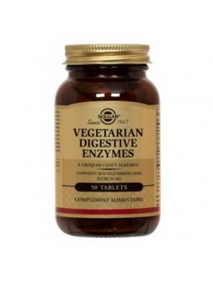 Vegetarian Digestive Enzymes - Digestion 50 comprimés à croquer - Solgar
