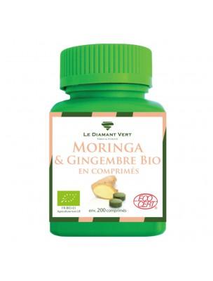 Moringa Gingembre Bio - Défenses naturelles 150 comprimés - Le Diamant Vert