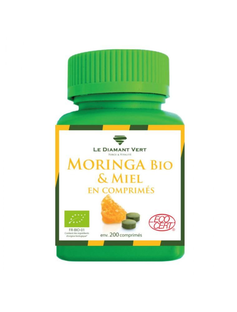 Moringa Miel Bio - Défenses naturelles 150 comprimés - Le Diamant Vert