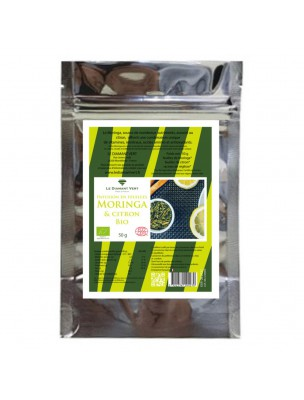 Moringa Citron Bio - Tisane de Moringa oleifera Citron et Réglisse 50g - Le Diamant Vert