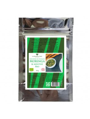 Moringa Menthe Bio - Tisane de Moringa oleifera Citron et Réglisse 50g - Le Diamant Vert