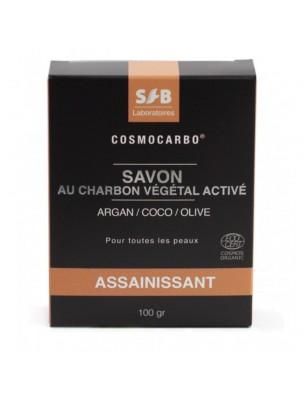 Savon Charbon Végétal Activé Bio - Argan, Coco et Olive 100g - SFB Laboratoires