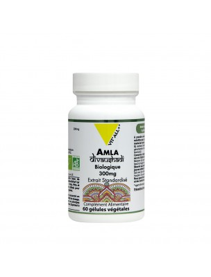 Amla Bio 300 mg - Digestion et Tonus 60 gélules végétales - Vit'all+