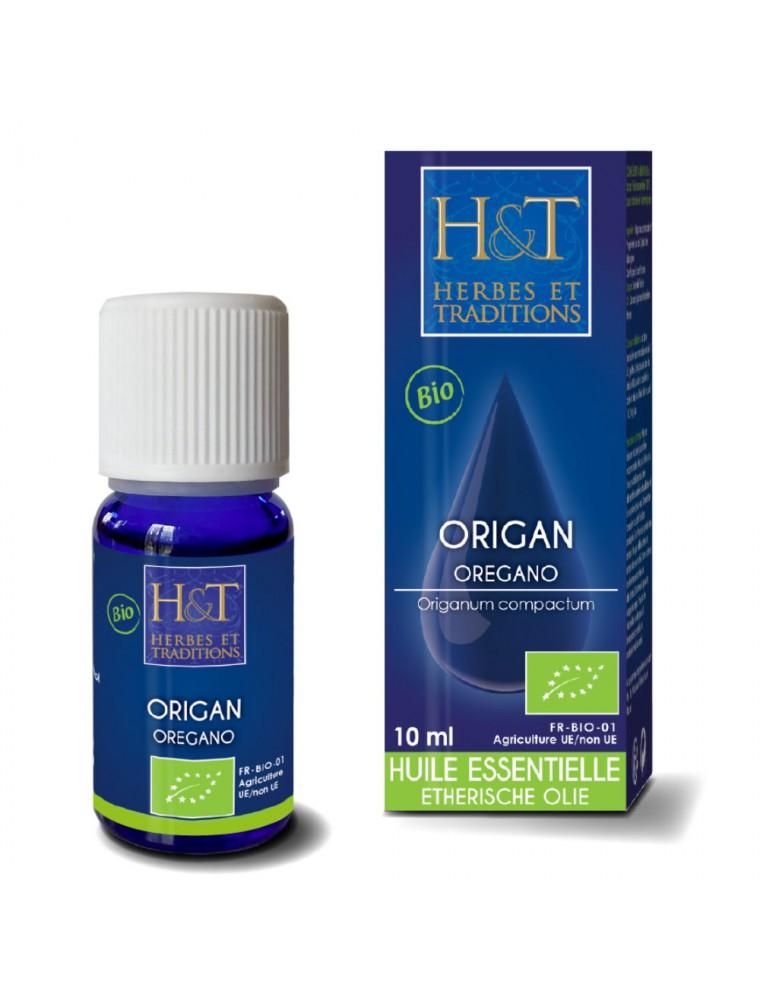 Origan Bio - Huile essentielle d'Origanum compactum 10 ml - Herbes et Traditions