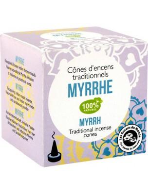 Myrrhe encens indien - 12 cônes - Les Encens du Monde