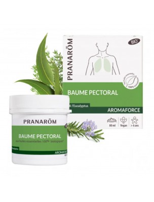 Aromaforce Baume Pectoral Bio - Respiration 80 ml - Pranarôm