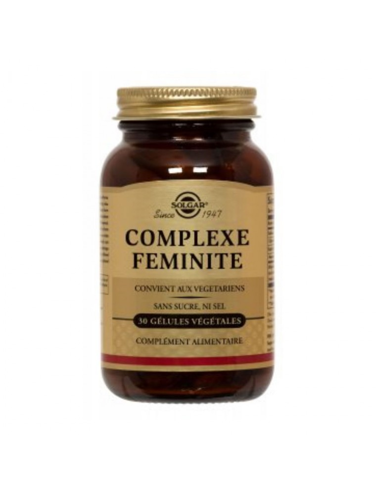Complexe Féminité - Ménopause 30 gélules végétales - Solgar