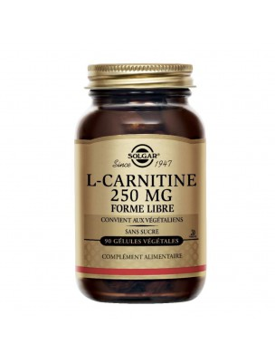 L-Carnithine 250mg - Acide aminé 90 gélules végétales - Solgar