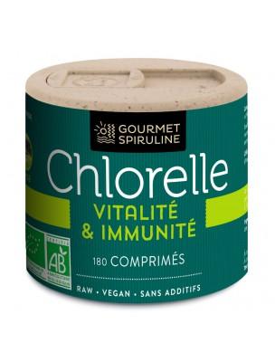 Chlorelle Bio - Vitalité et Immunité 180 comprimés - Gourmet Spiruline