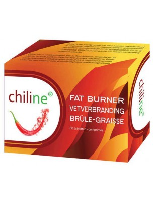 Brûle-graisse - Graisses rebelles & disgracieuses 60 comprimés - Chiline