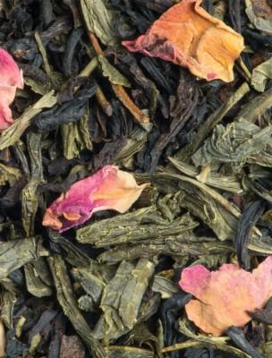 L'Attrape-Coeur - Thé noir et vert au litchi, à la rose et à la pêche 100g -...