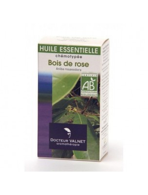 Bois de Rose Bio - Huile essentielle Aniba rosaeodora 10ml - Docteur Valnet