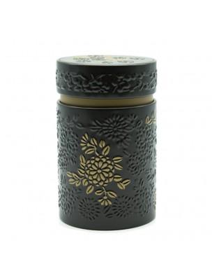 Boite à thé Yumiko Noire pour 150 g de thé