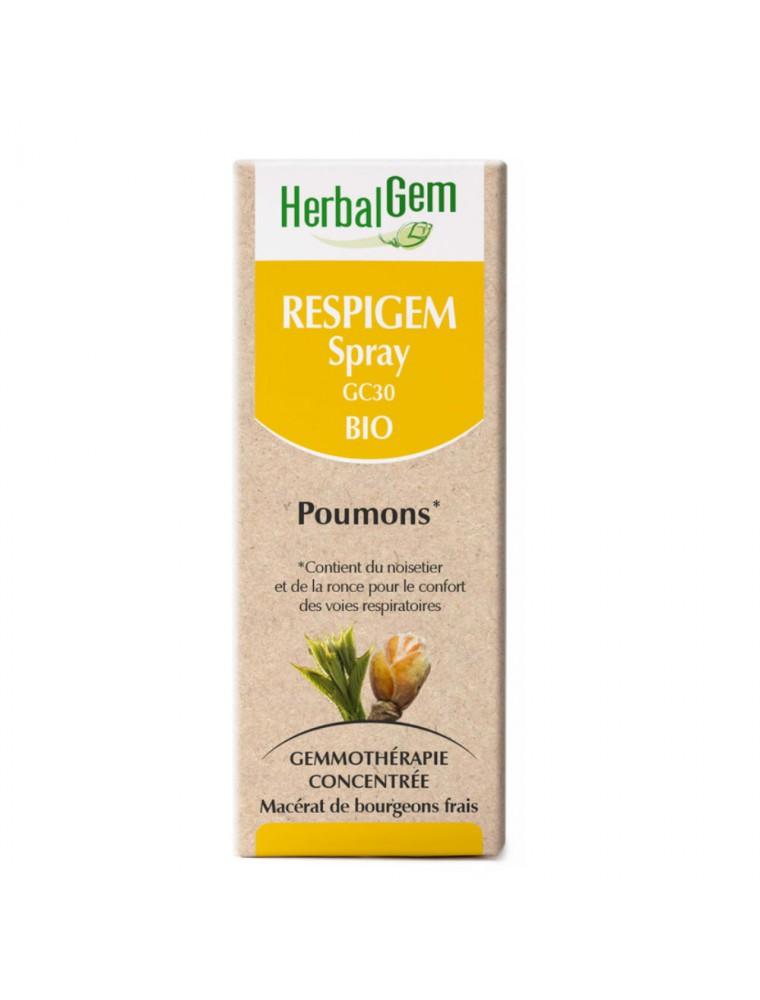 RespiGEM Bio GC30 - Poumons Spray Buccal 10 ml - Herbalgem