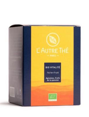 Bio Vitalité Thé vert / thé blanc bio Agrumes - Fruit de la passion 20 sachets pyramide - L'Autre thé