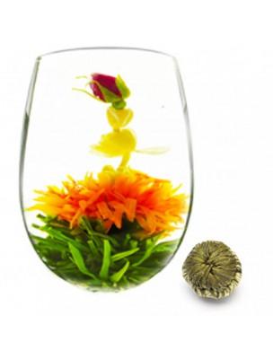 Baiser du Dragon Fleur de thés - Thé blanc, Jasmin, Rose et Fleur de Souci