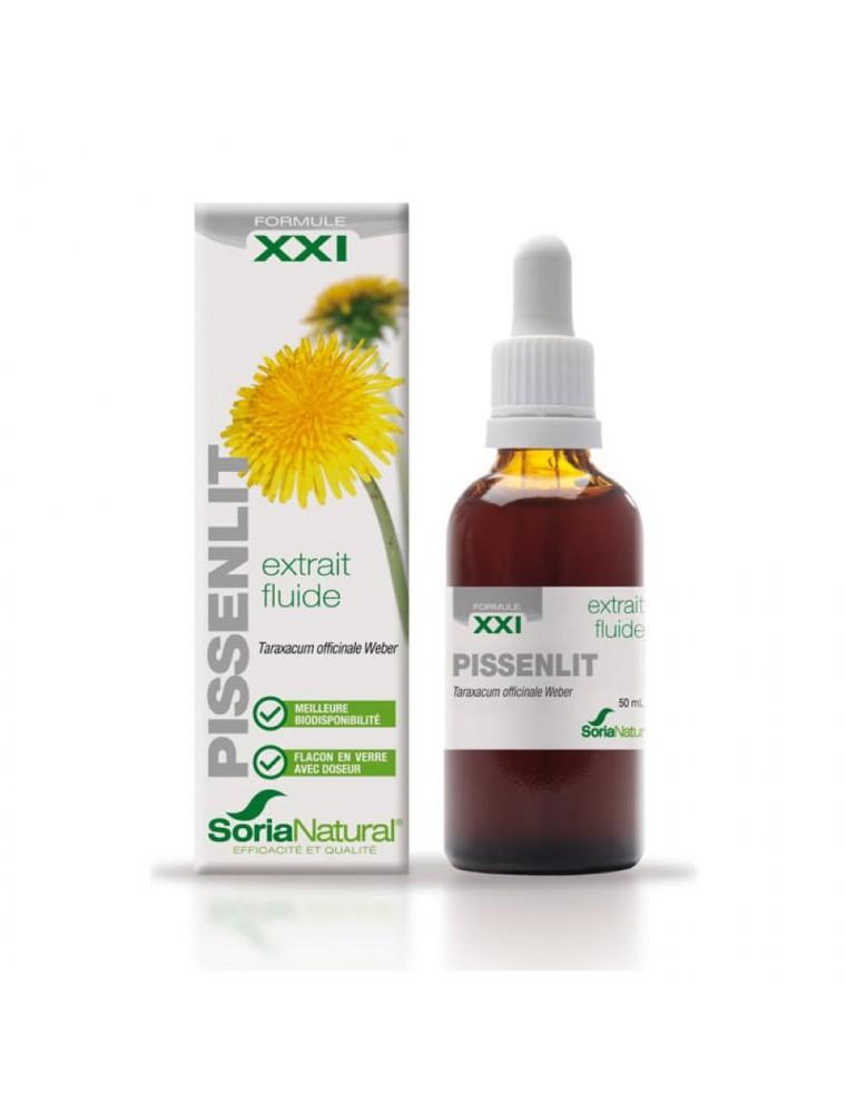 Pissenlit XXI - Extrait Fluide de Taraxacum officinale Weber 50ml - SoriaNatural