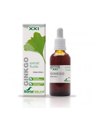 Ginkgo XXI - Extrait Fluide de Ginkgo biloba L. 50ml - SoriaNatural