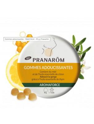 Aromaforce Gommes Adoucissantes Bio - Miel Citron 45g - Pranarôm
