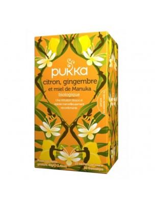 Citron, Gingembre et Miel de Manuka Bio - Infusion 20 sachets - Pukka Herbs