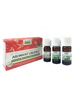 Aroma'Kit Urgence Bio - Trio d'huiles essentielles - Propos Nature