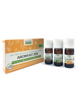 Aroma'Kit Zen Bio - Trio d'huiles essentielles - Propos Nature