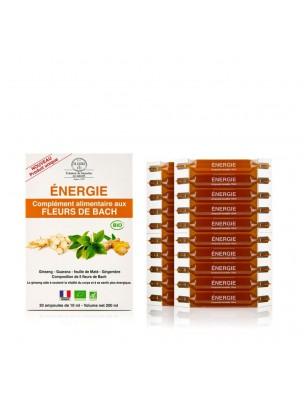 Energie - Complément alimentaire Bio aux Fleurs de Bach 20 ampoules de 10 ml - Elixirs and Co