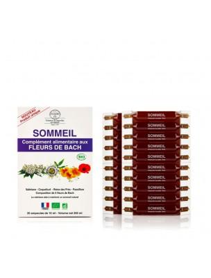 Sommeil - Complément alimentaire Bio aux Fleurs de Bach 20 ampoules de 10 ml - Elixirs and Co